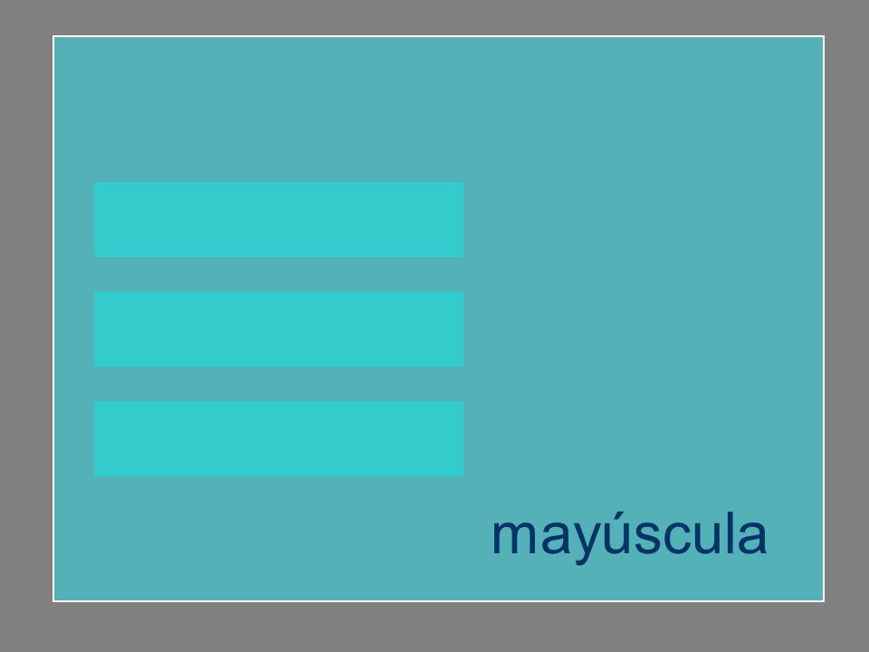 huella buey mayúscula mayúscula