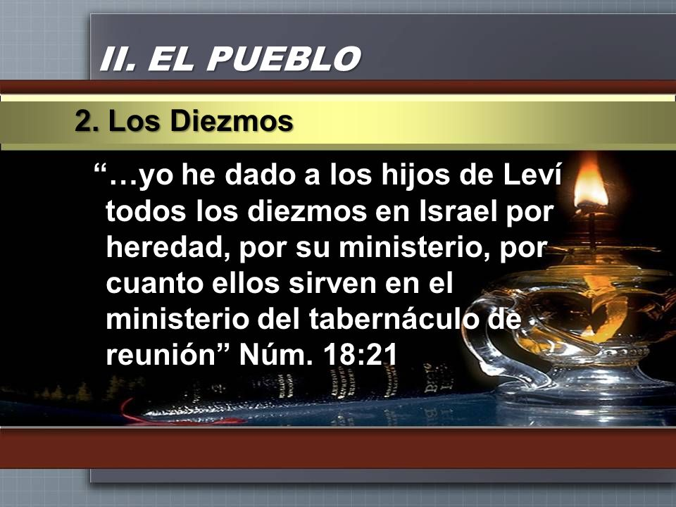 II. EL PUEBLO 2. Los Diezmos