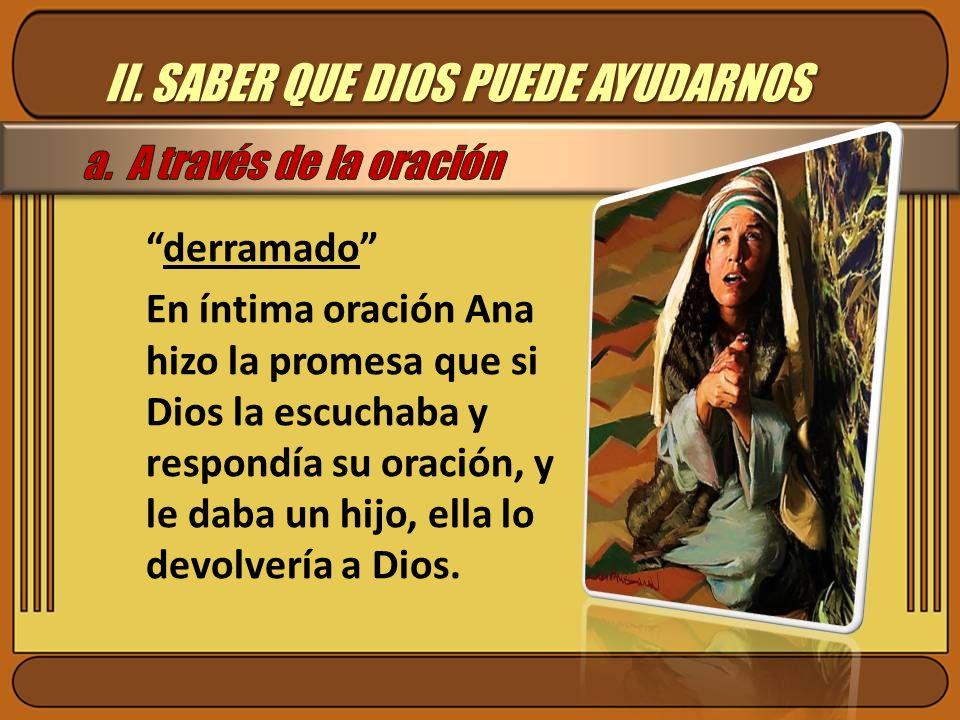 II. SABER QUE DIOS PUEDE AYUDARNOS