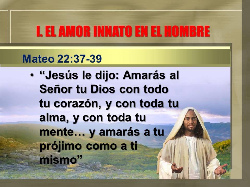 I. EL AMOR INNATO EN EL HOMBRE