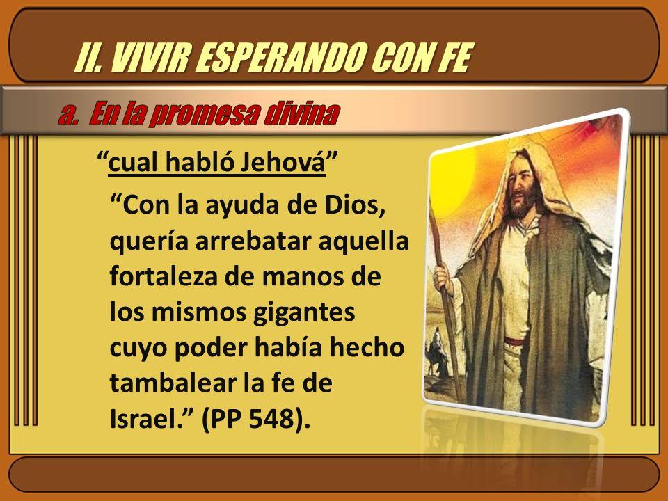 II. VIVIR ESPERANDO CON FE