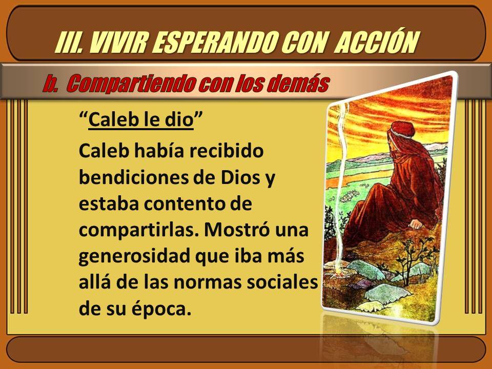 III. VIVIR ESPERANDO CON ACCIÓN