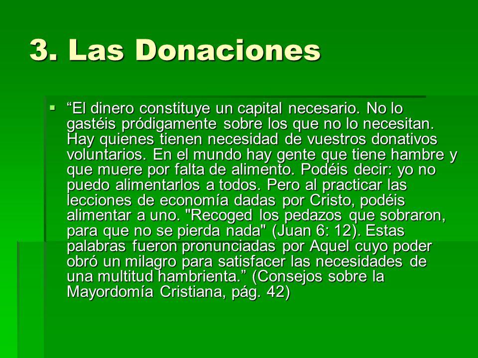3. Las Donaciones