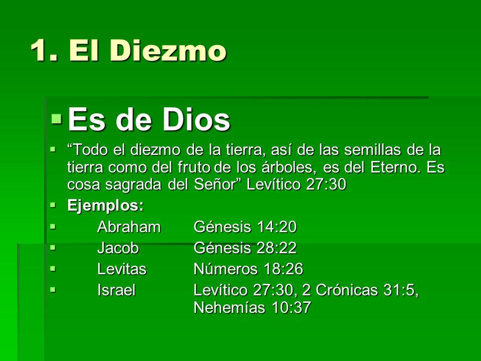 1. El Diezmo Es de Dios.