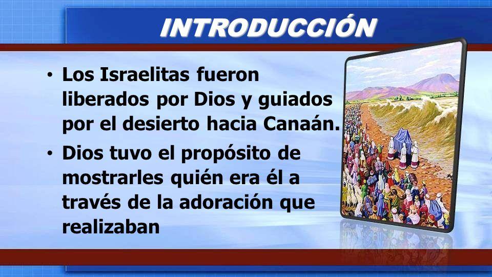 INTRODUCCIÓN Los Israelitas fueron liberados por Dios y guiados por el desierto hacia Canaán.
