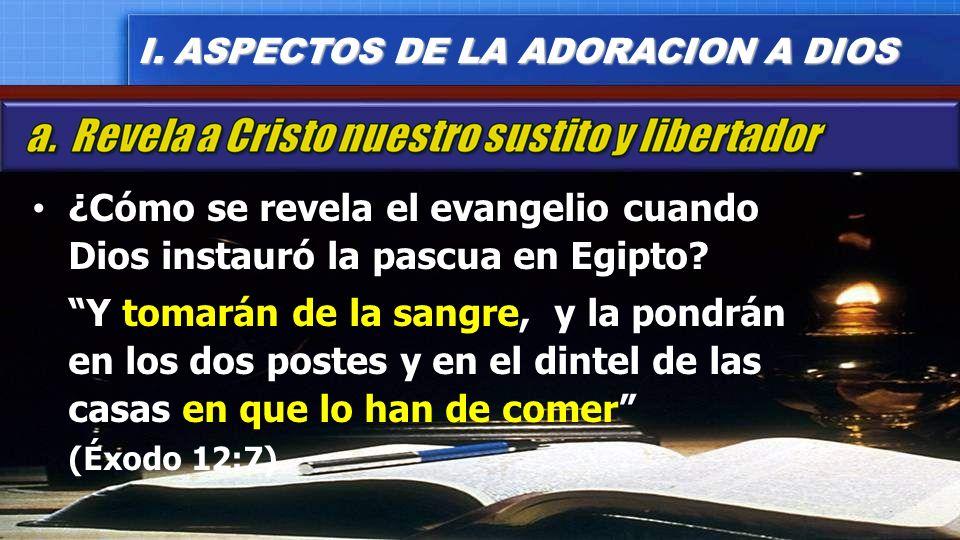 ¿Cómo se revela el evangelio cuando Dios instauró la pascua en Egipto
