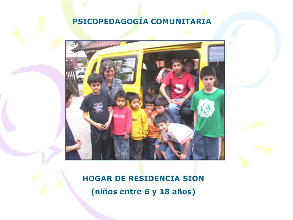 PSICOPEDAGOGÍA COMUNITARIA HOGAR DE RESIDENCIA SION