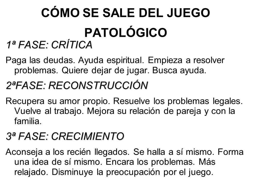 CÓMO SE SALE DEL JUEGO PATOLÓGICO