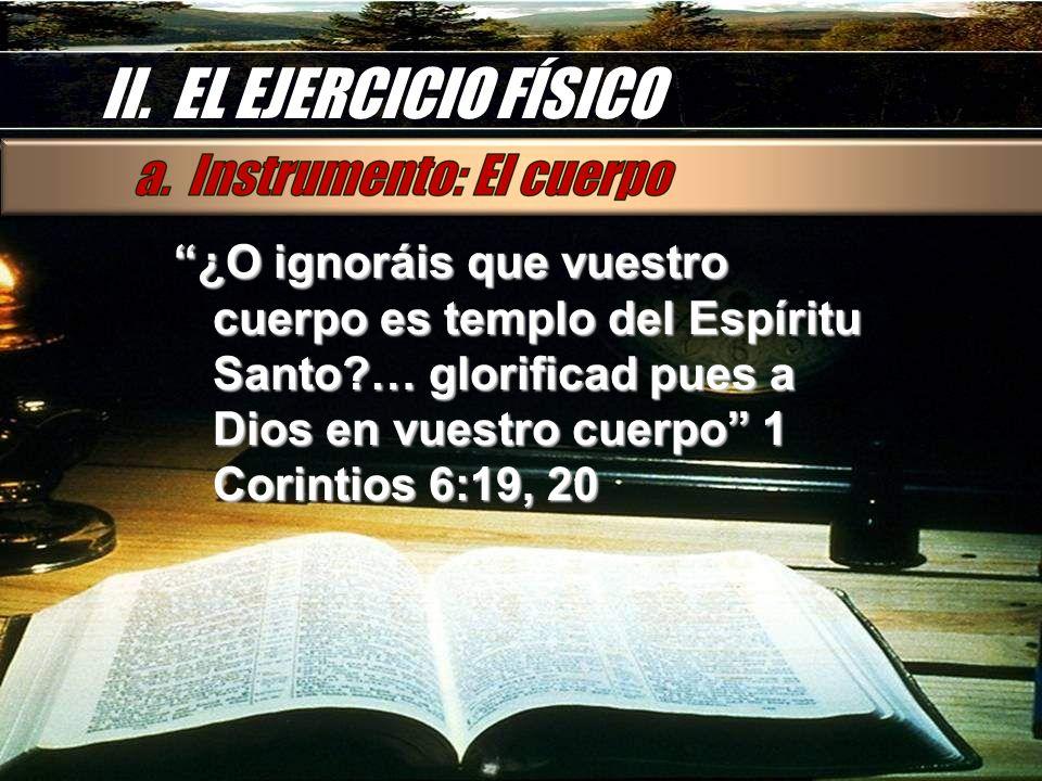 II. EL EJERCICIO FÍSICO