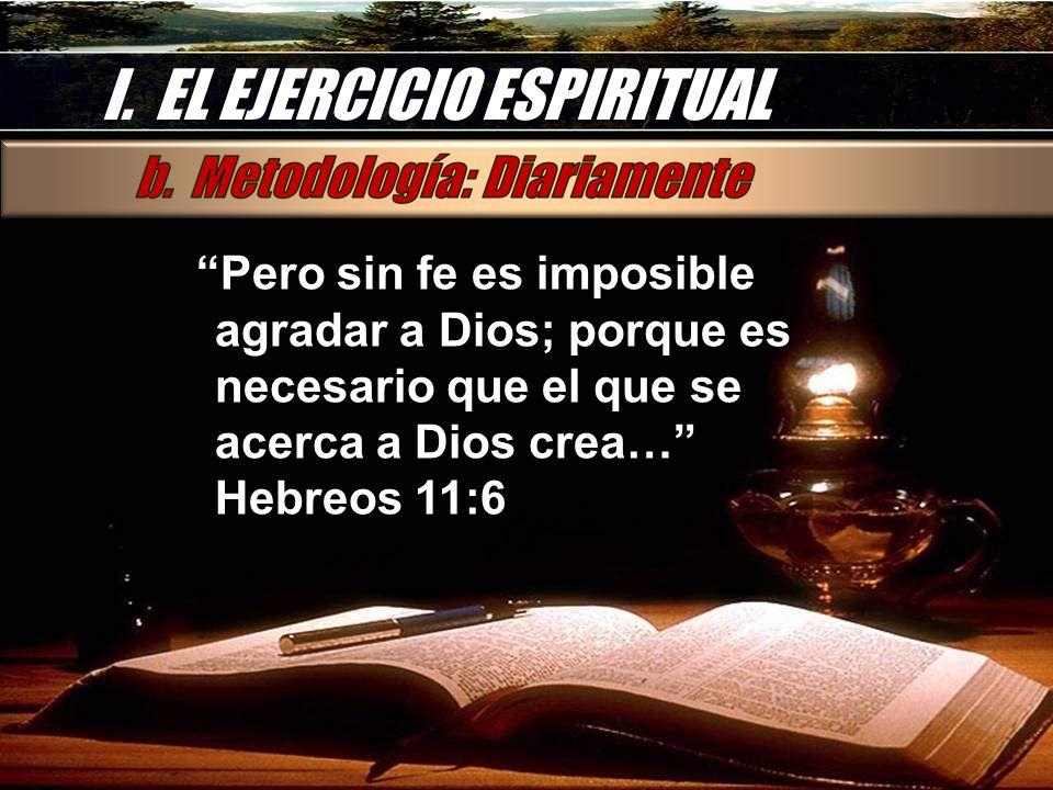 I. EL EJERCICIO ESPIRITUAL