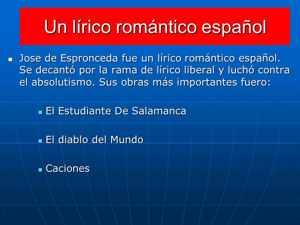 Un lírico romántico español