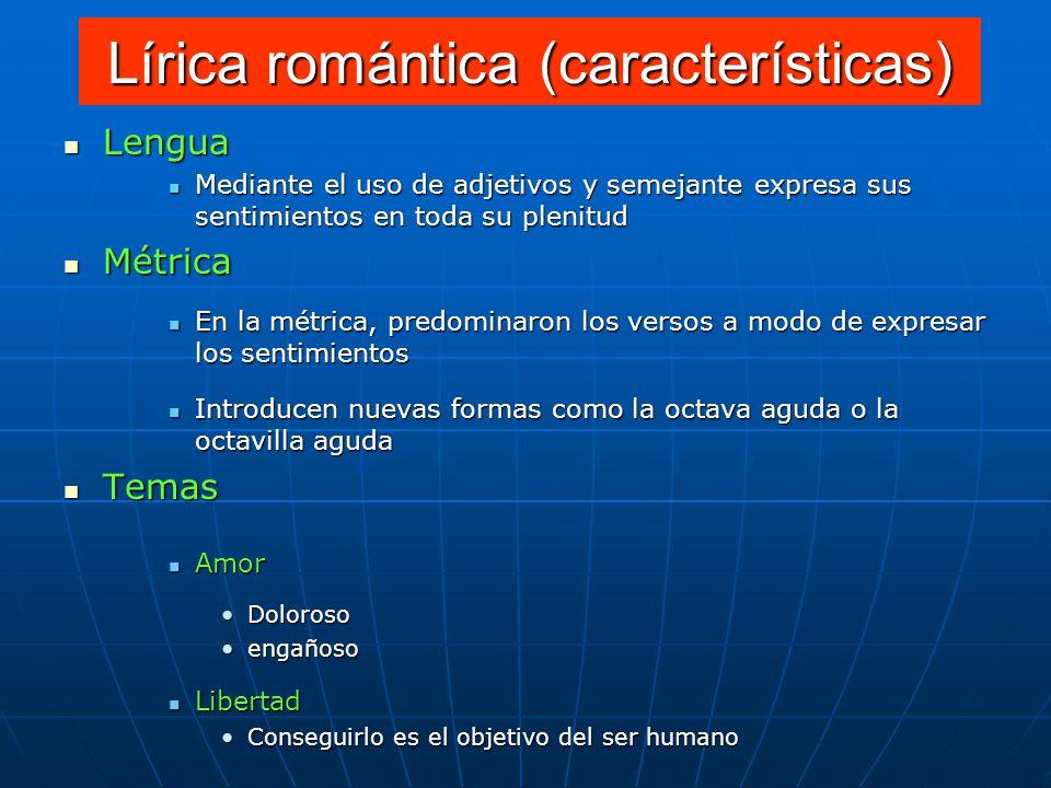 Lírica romántica (características)
