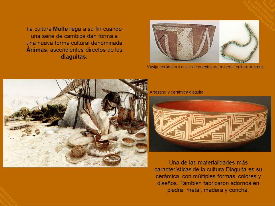 La cultura Molle llega a su fin cuando una serie de cambios dan forma a una nueva forma cultural denominada Ánimas, ascendientes directos de los diaguitas.