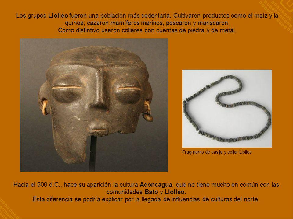 Como distintivo usaron collares con cuentas de piedra y de metal.