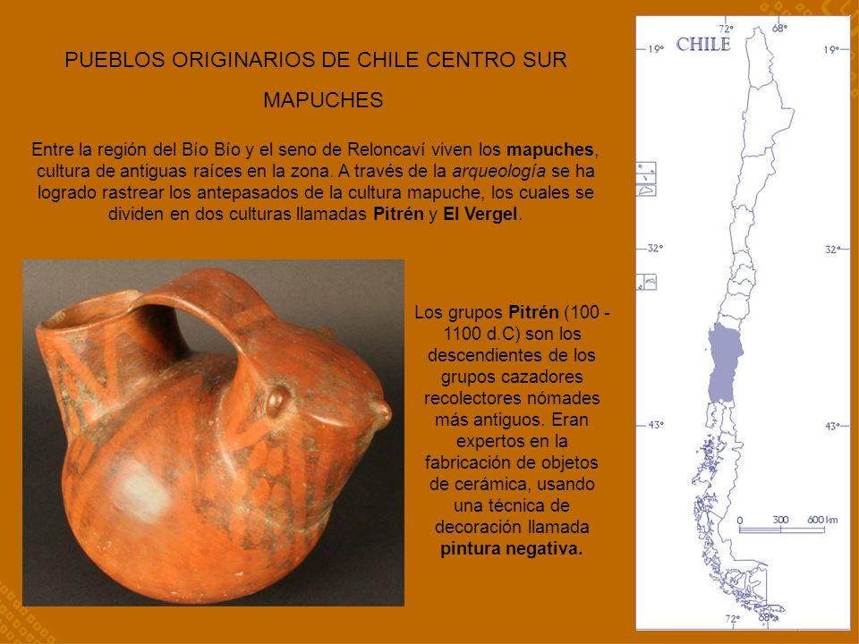 PUEBLOS ORIGINARIOS DE CHILE CENTRO SUR