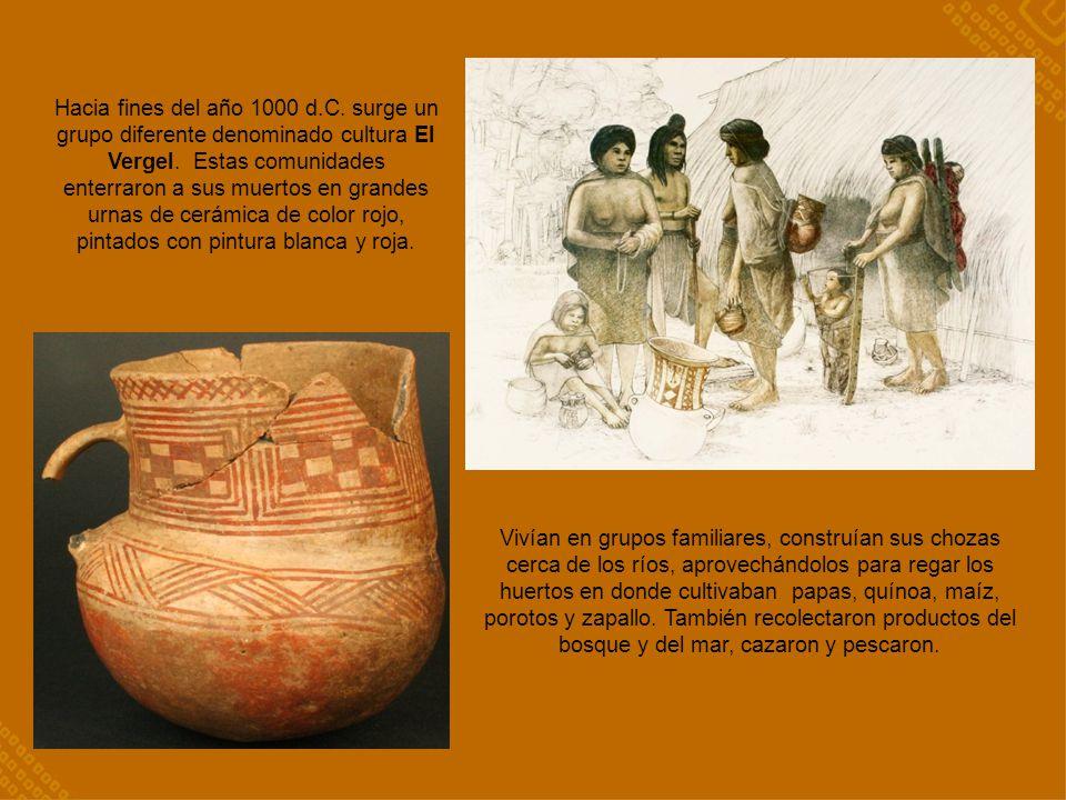 Hacia fines del año 1000 d.C. surge un grupo diferente denominado cultura El Vergel. Estas comunidades enterraron a sus muertos en grandes urnas de cerámica de color rojo, pintados con pintura blanca y roja.