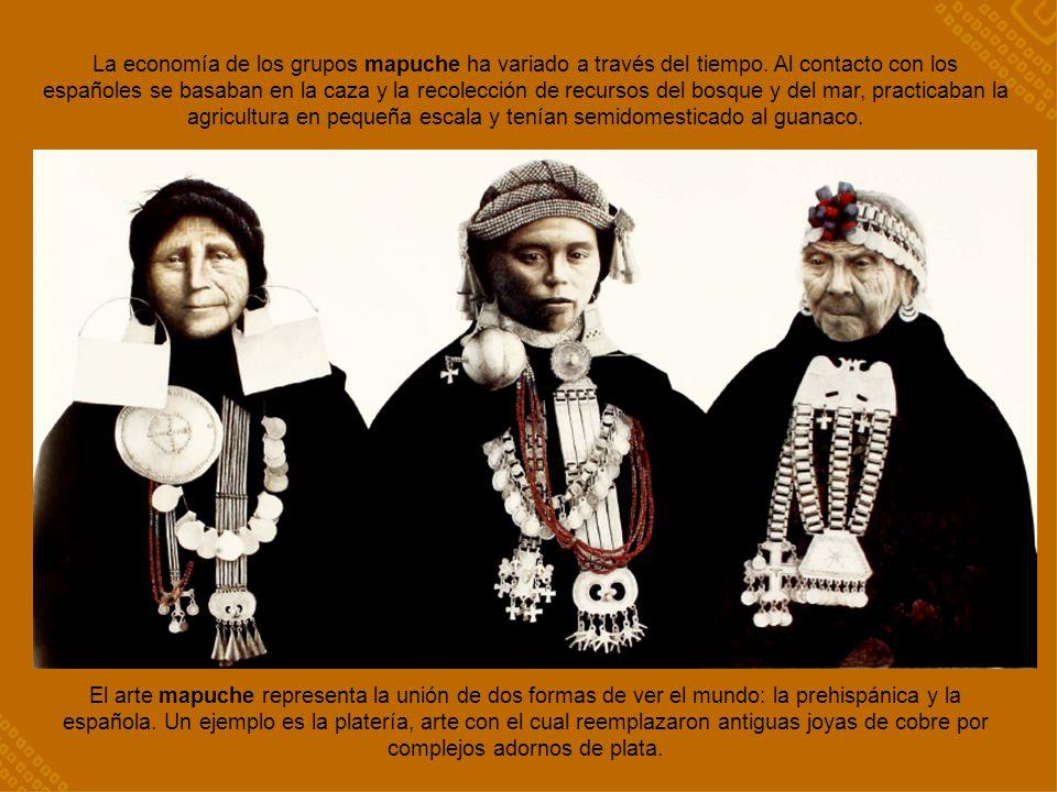 La economía de los grupos mapuche ha variado a través del tiempo