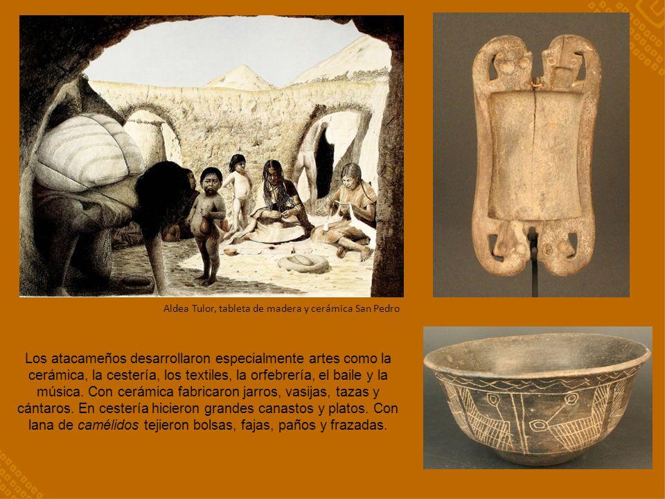 Aldea Tulor, tableta de madera y cerámica San Pedro