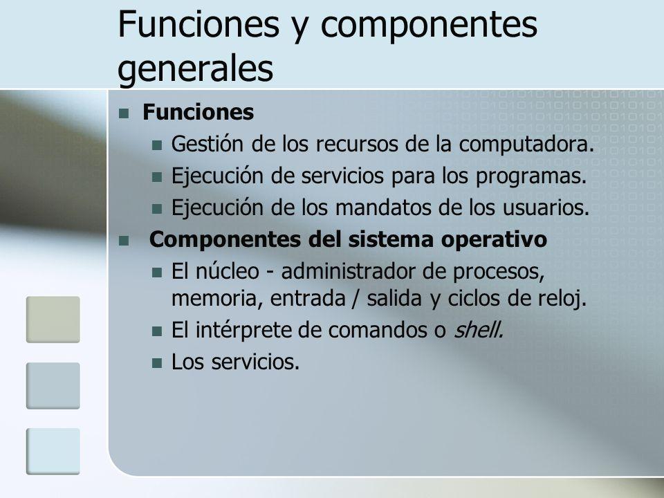 Funciones y componentes generales