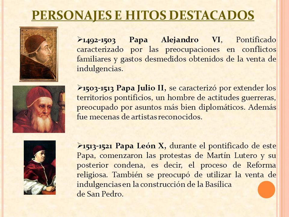 PERSONAJES E HITOS DESTACADOS