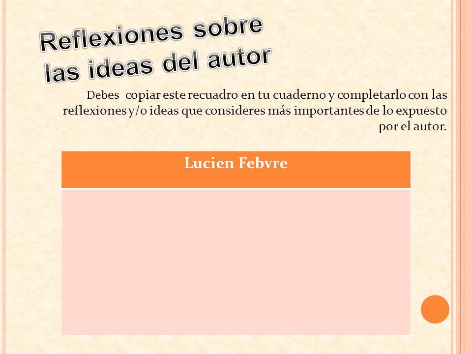 Reflexiones sobre las ideas del autor