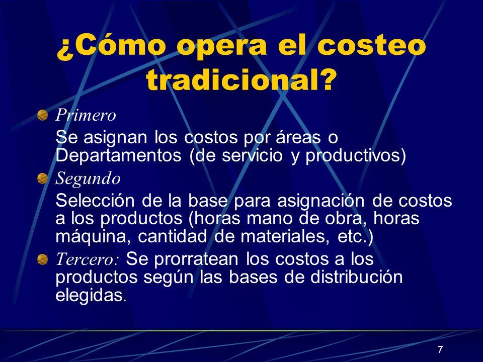 ¿Cómo opera el costeo tradicional