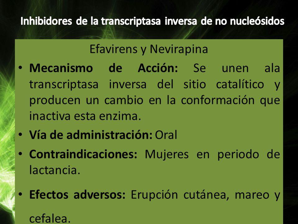 Inhibidores de la transcriptasa inversa de no nucleósidos