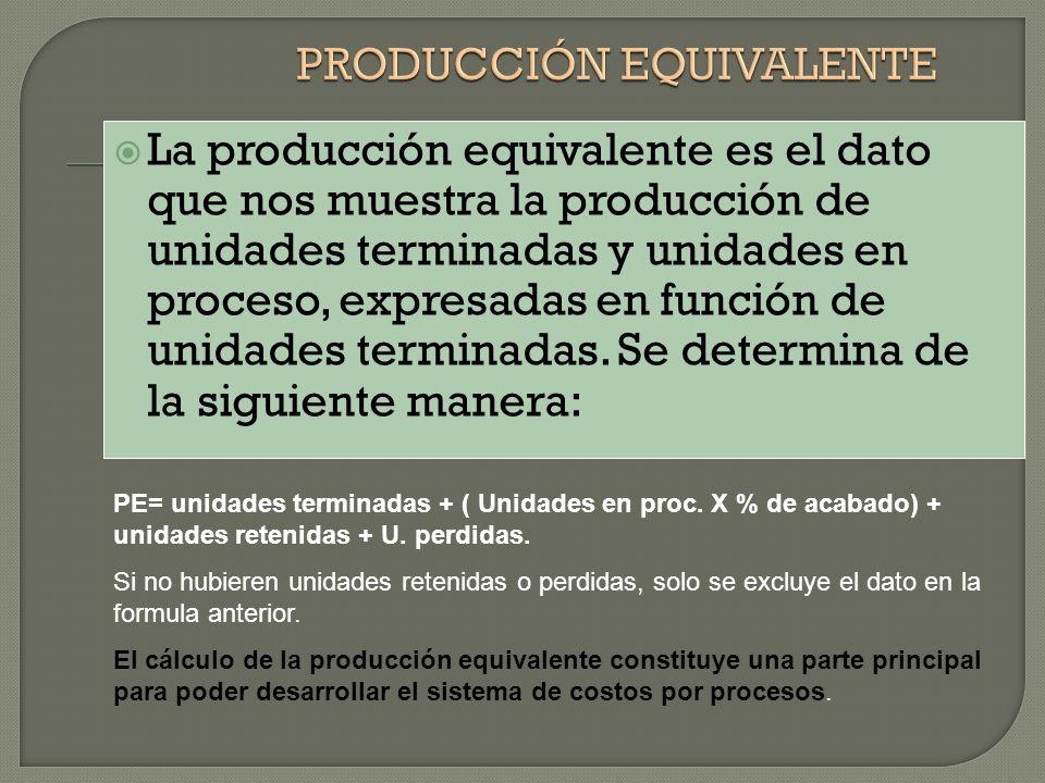 PRODUCCIÓN EQUIVALENTE