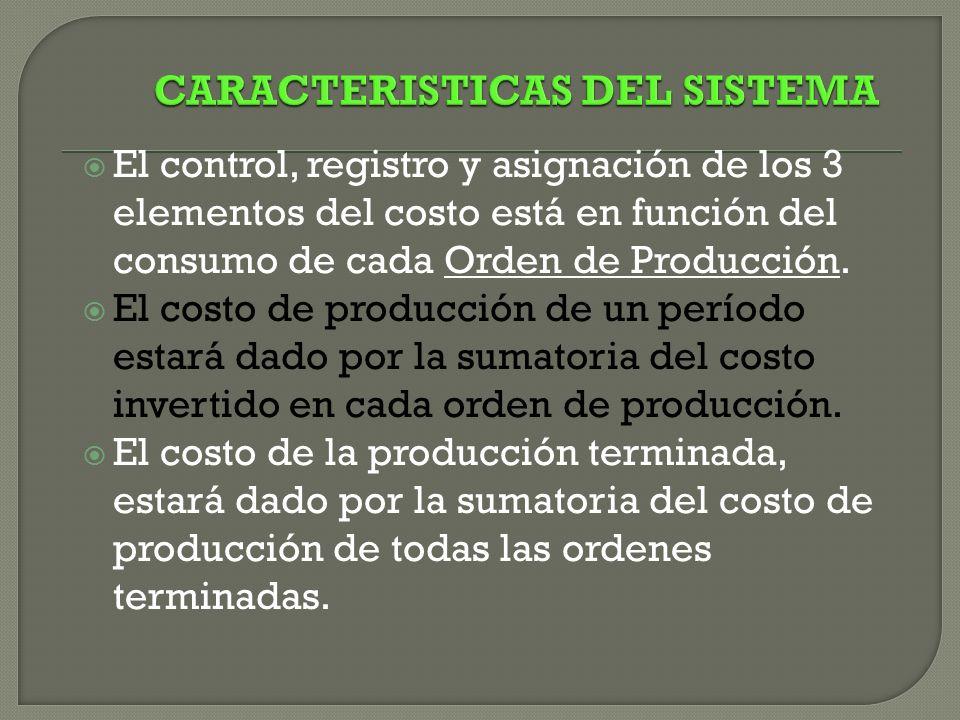 CARACTERISTICAS DEL SISTEMA