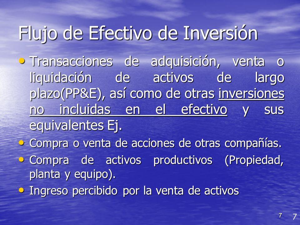 Flujo de Efectivo de Inversión