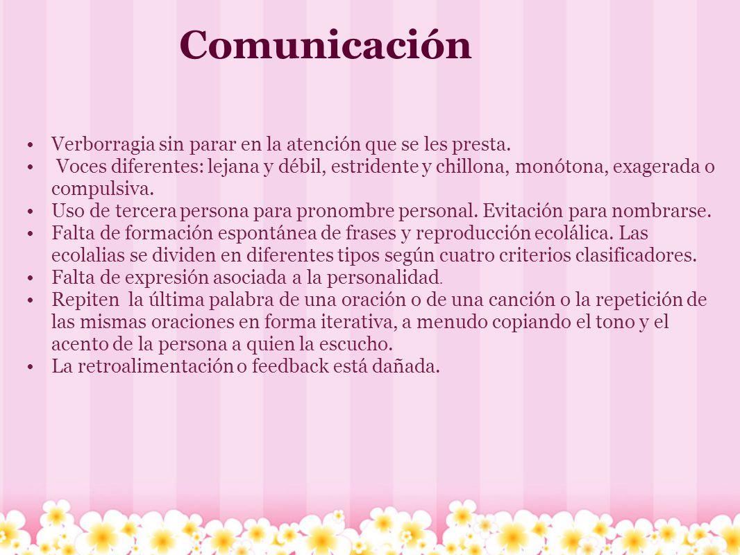 Comunicación Verborragia sin parar en la atención que se les presta.