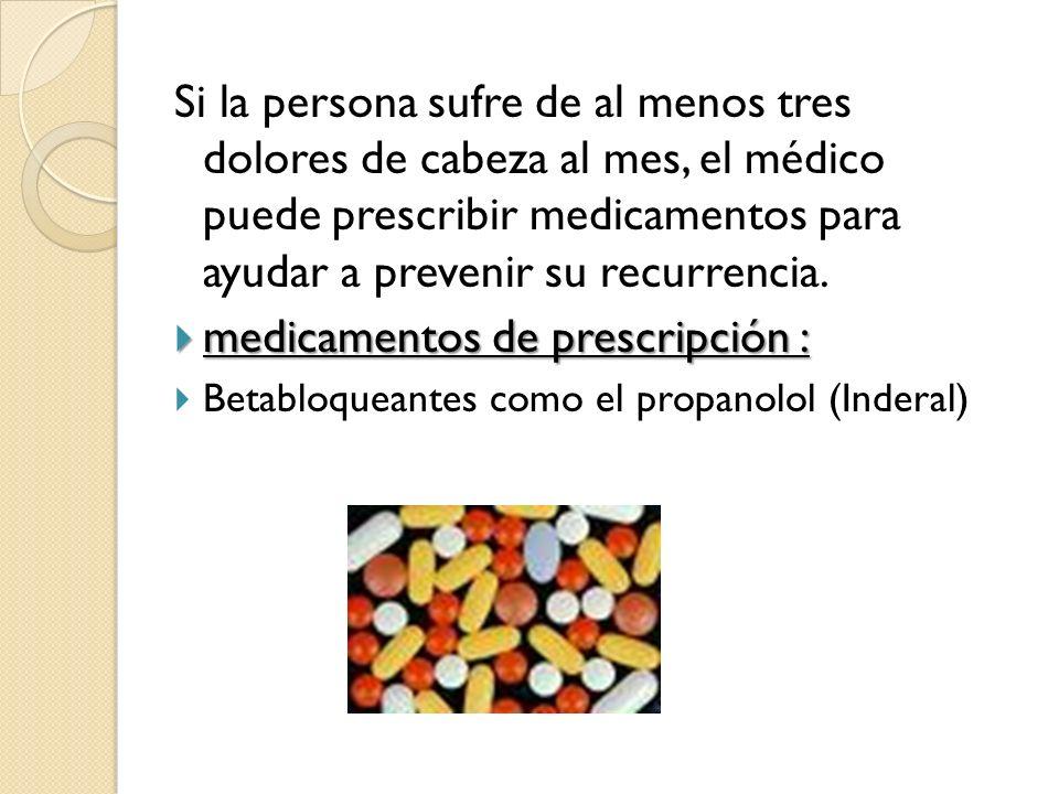 medicamentos de prescripción :