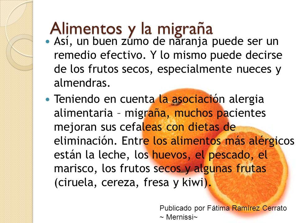 Alimentos y la migraña