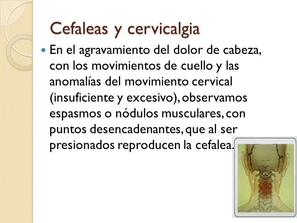 Cefaleas y cervicalgia