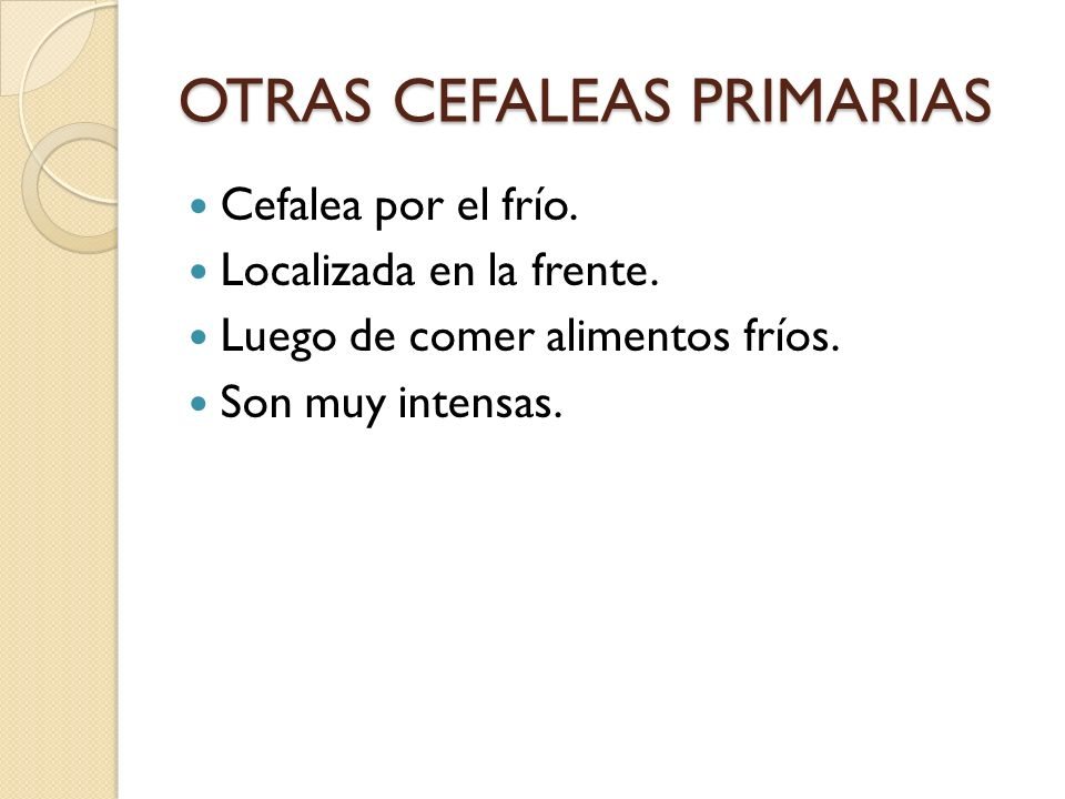 OTRAS CEFALEAS PRIMARIAS