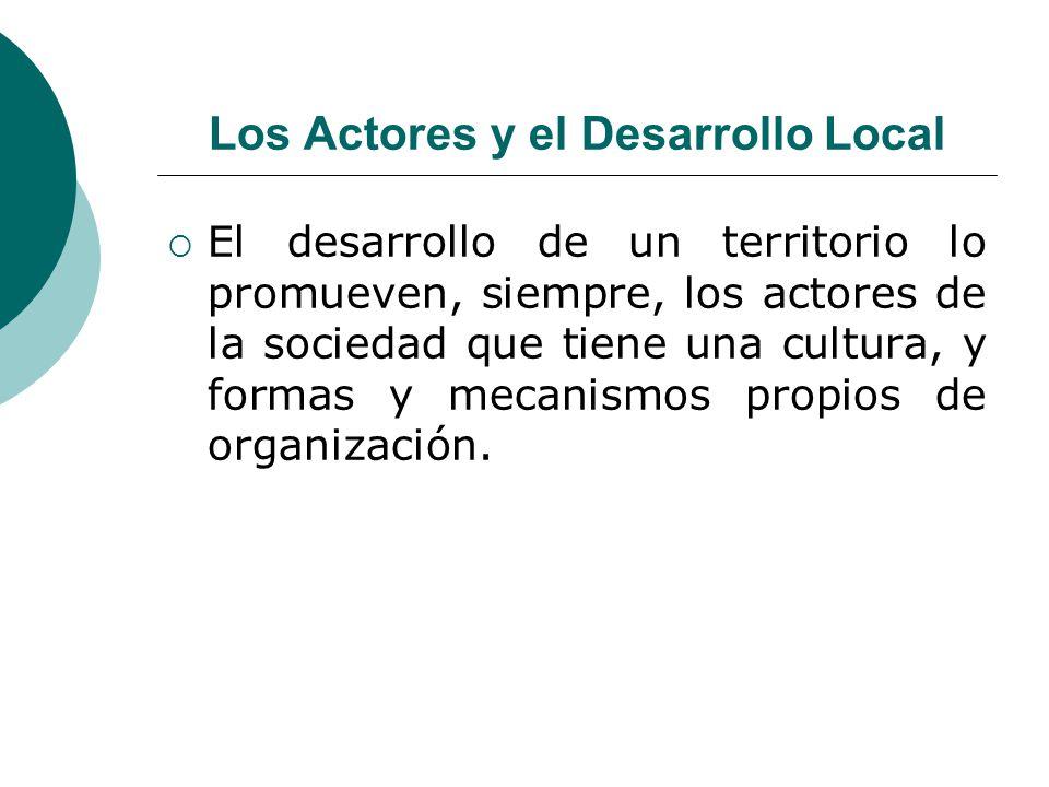 Los Actores y el Desarrollo Local