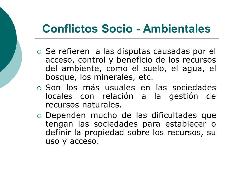 Conflictos Socio - Ambientales