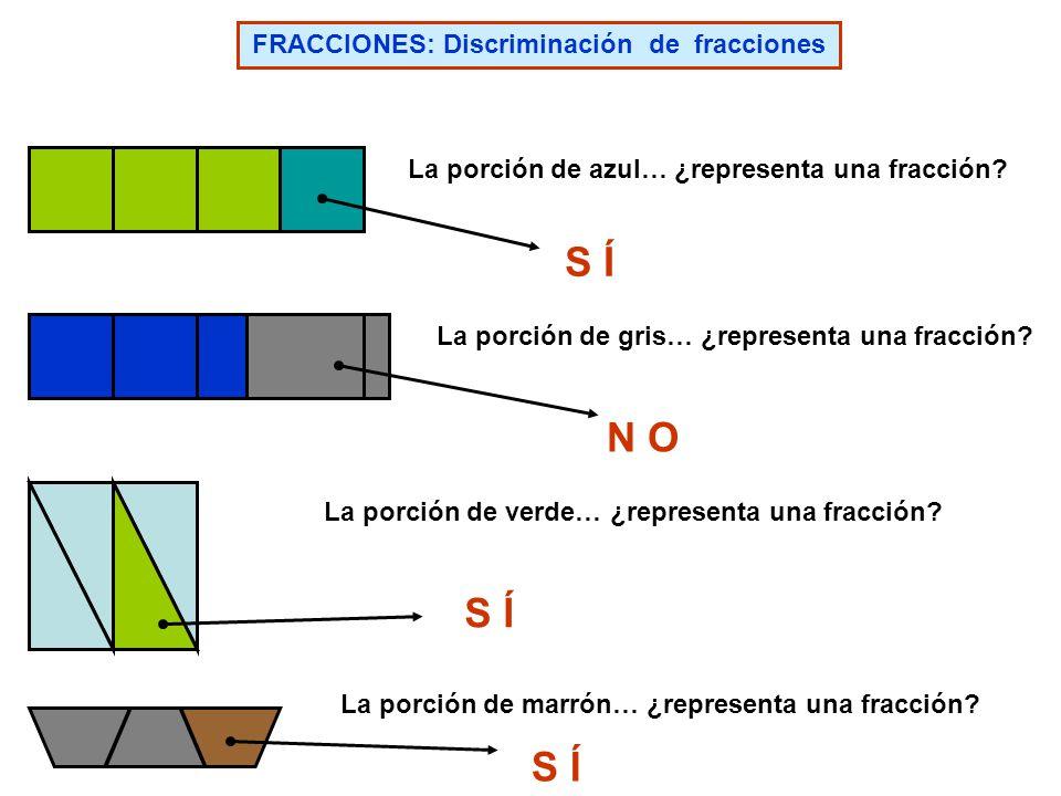 FRACCIONES: Discriminación de fracciones