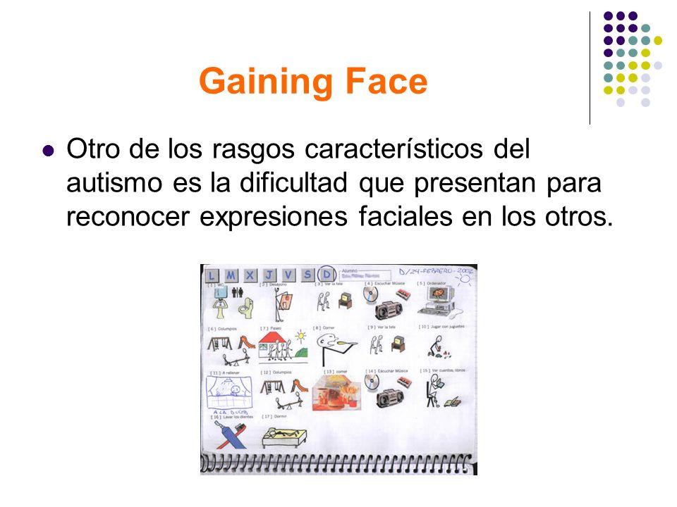 Gaining Face Otro de los rasgos característicos del autismo es la dificultad que presentan para reconocer expresiones faciales en los otros.