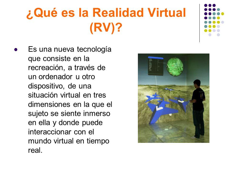 ¿Qué es la Realidad Virtual (RV)