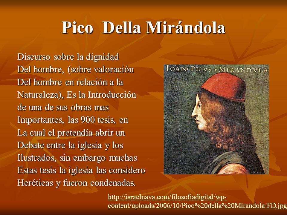 Pico Della Mirándola Discurso sobre la dignidad