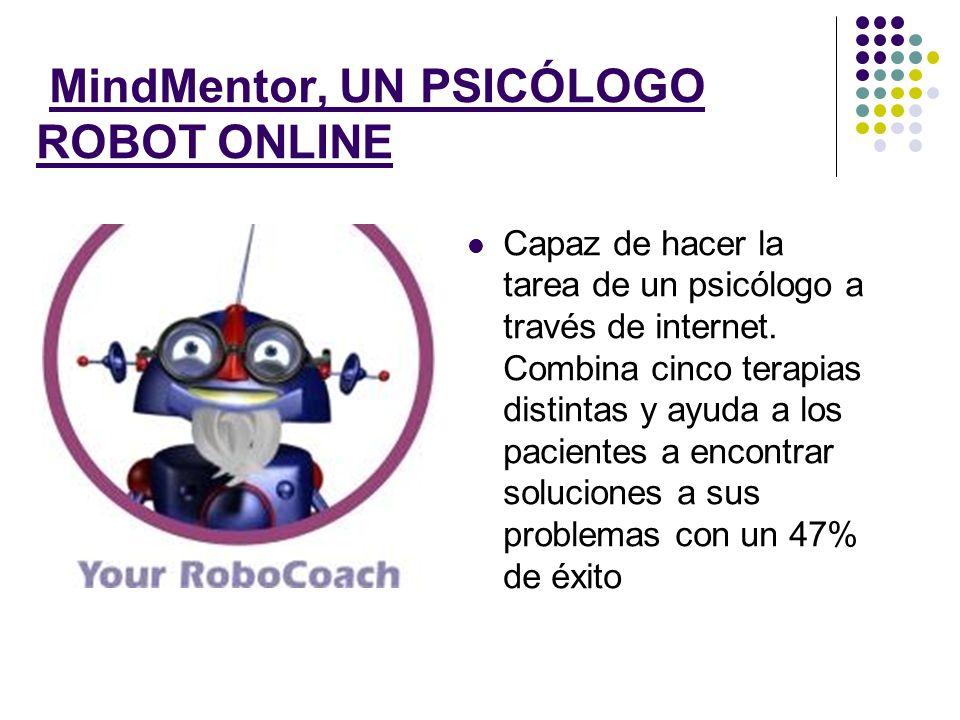 MindMentor, UN PSICÓLOGO ROBOT ONLINE