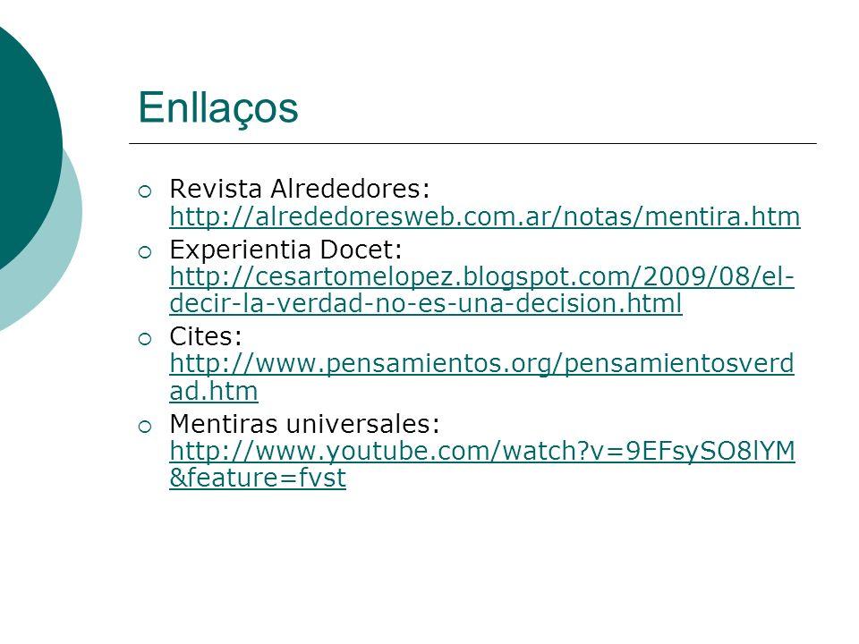 Enllaços Revista Alrededores: http://alrededoresweb.com.ar/notas/mentira.htm.