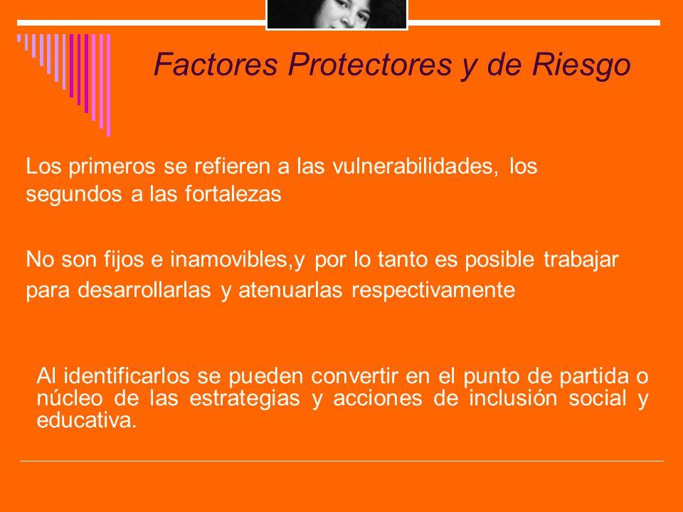 Factores Protectores y de Riesgo