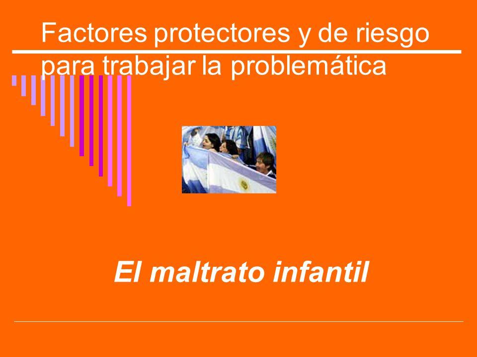 Factores protectores y de riesgo para trabajar la problemática