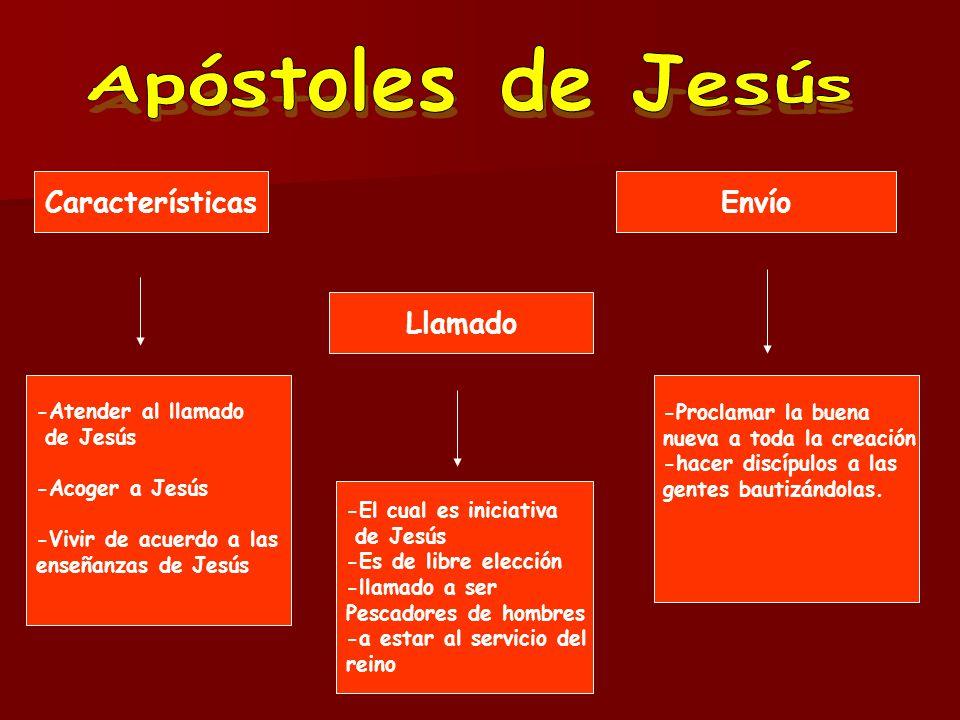 Apóstoles de Jesús Características Envío Llamado -Atender al llamado
