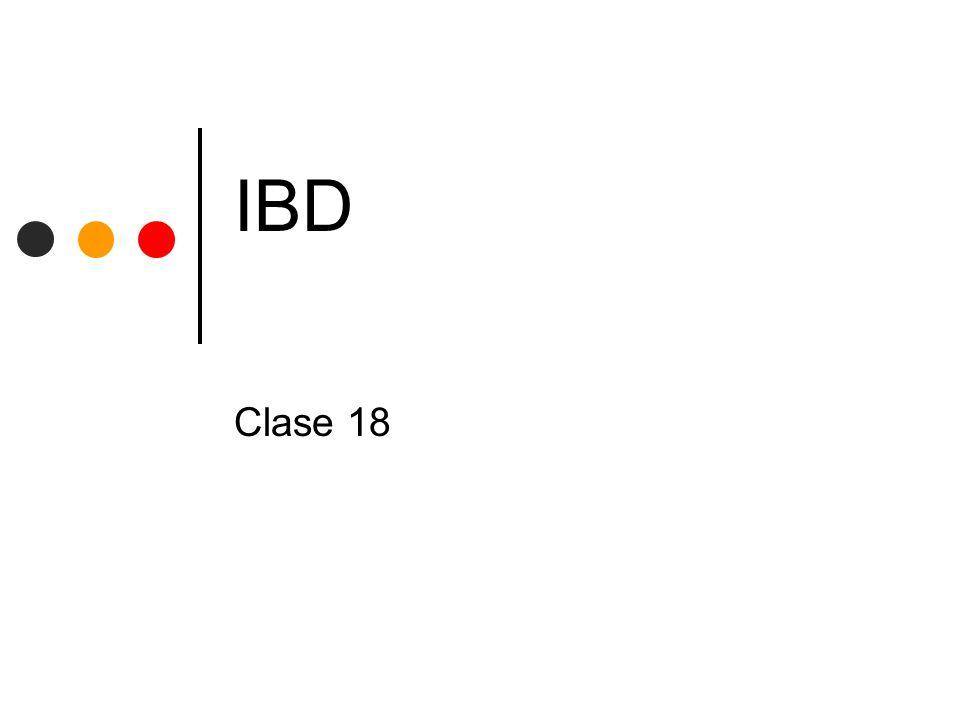 IBD Clase 18