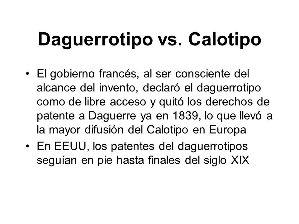 Daguerrotipo vs. Calotipo