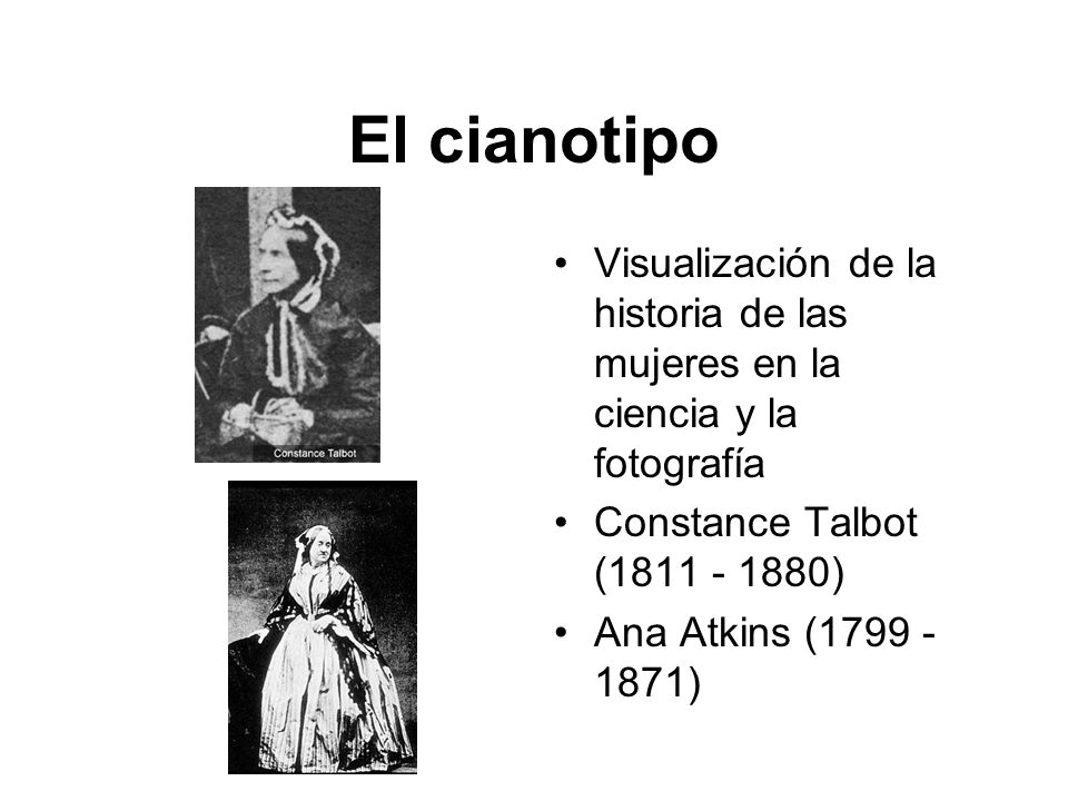 El cianotipo Visualización de la historia de las mujeres en la ciencia y la fotografía. Constance Talbot (1811 - 1880)