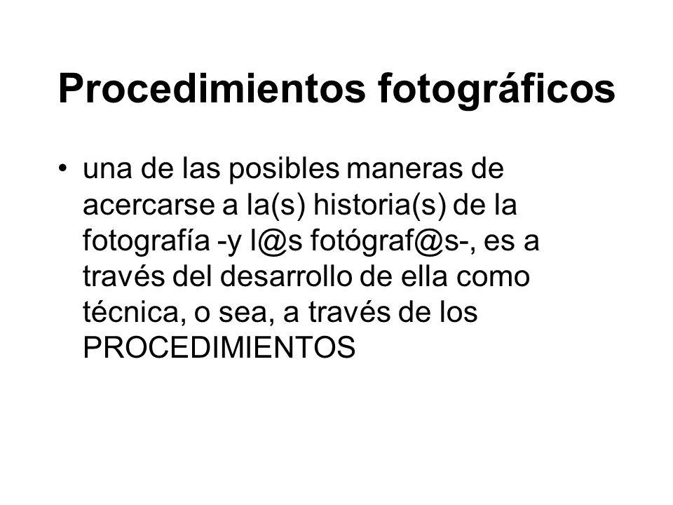 Procedimientos fotográficos